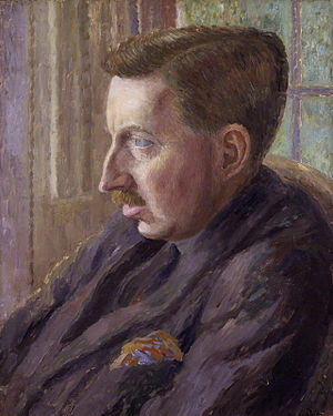painting of E M Forster